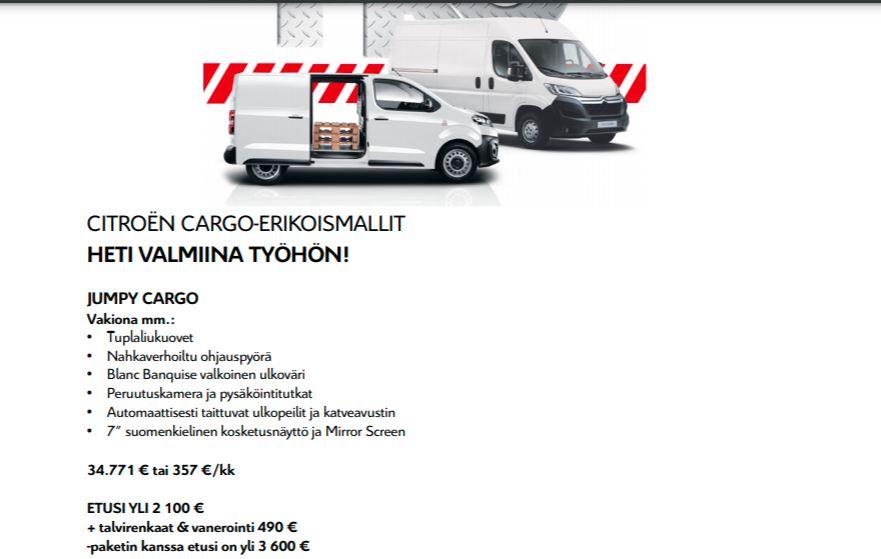 Cargo erikoismallit